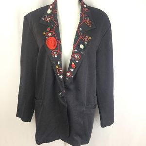 VTG Funky Rodeo Blazer Art To Wear Embellished